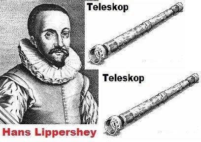 Resultado de imagen para el primer telescopio de hans lippershey