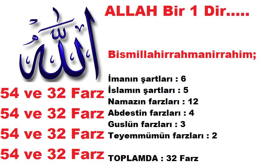 54 ve 32 Farz