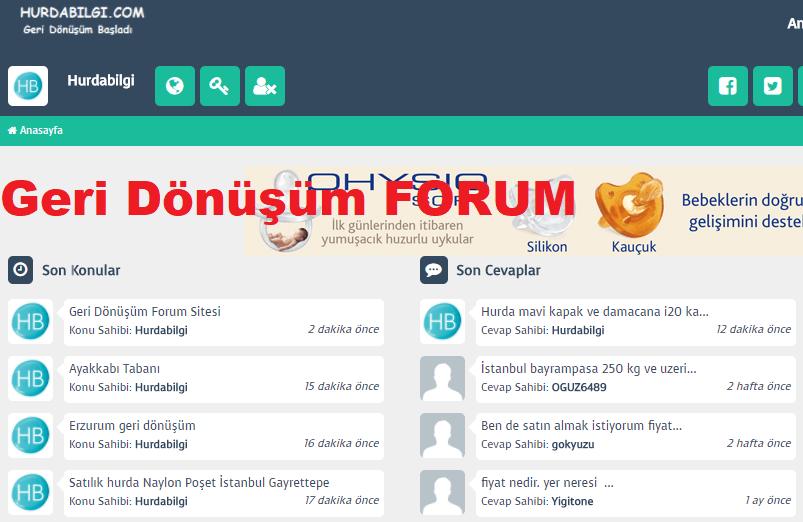 Geri Donusum Forum Sitesi