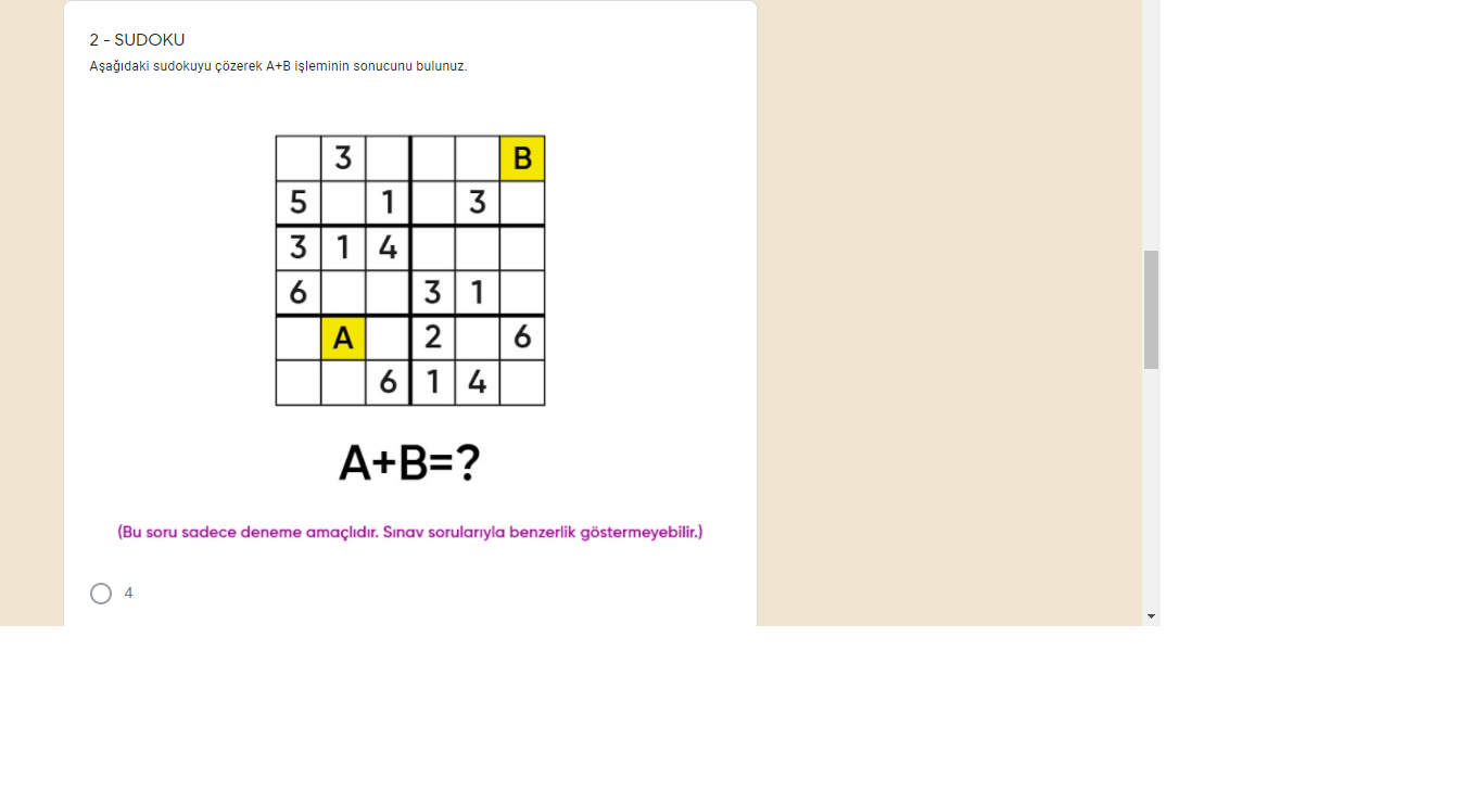sampiyona.tvz.org.tr açılmıyor Soru örnekleri