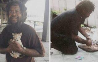 Evsiz Adam Her Zaman Her Gün Kendinden Önce Başıboş Kedileri Besler
